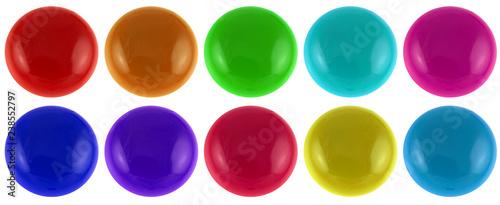 Poster Macarons boutons de couleurs, fond blanc