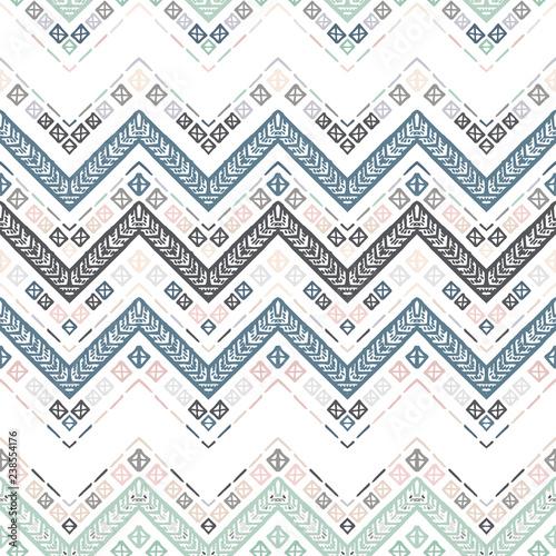 Foto auf AluDibond Boho-Stil Seamless ethnic zigzag chevron pattern