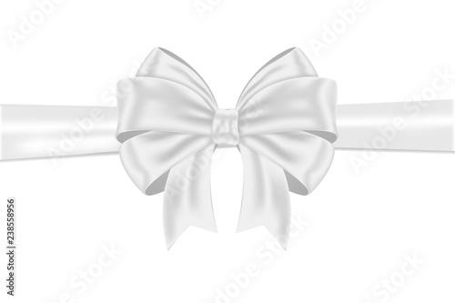 Fotografija White ribbon bow wrapping