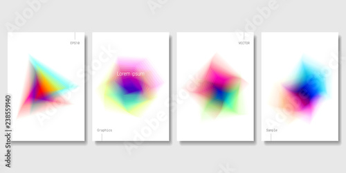 Photo  Set of Colorful Abstract Objects