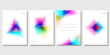 Set of Colorful Modern Templates with Abstract Graphic Elements. Applicable for Banners, Posters, Web Backgrounds and Cover Prints. EPS 10 Vector.