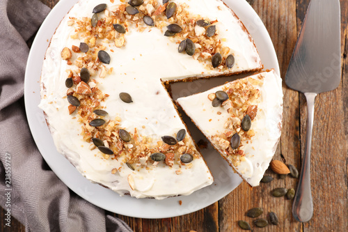 Fototapety, obrazy: pumpkin pie and nuts