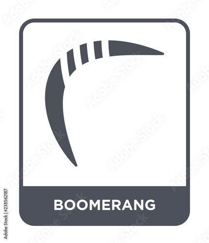 boomerang icon vector Canvas Print