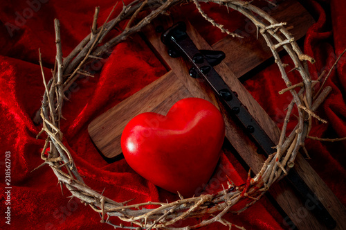 The expression of absolute love through the self sacrifice of Jesus Christ for t Wallpaper Mural
