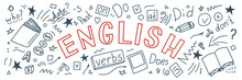 English. Language Hand Drawn D...