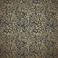 Vintage Seamless Pattern With ...