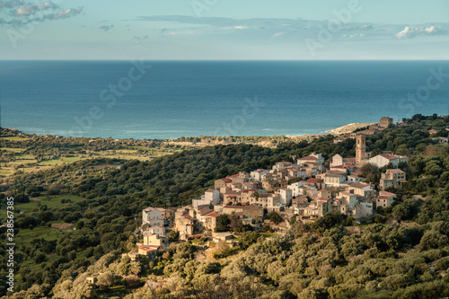The village of Aregno in the Balagne region of Corsica Canvas-taulu