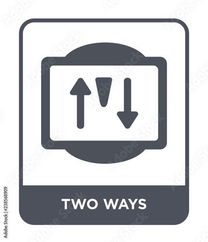 two ways icon vector Slika na platnu