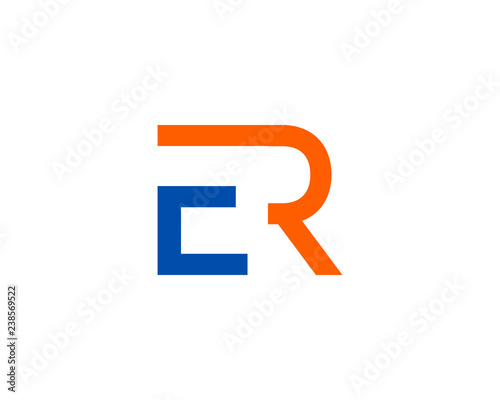 Initial Letter Er Logo Template Design Acheter Ce Vecteur Libre De