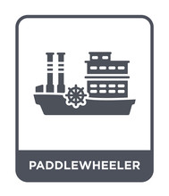 Paddlewheeler Icon Vector
