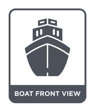 Boat Front View Icon Vector