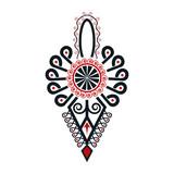 Polski folklor - parzenica czarno-czerwona