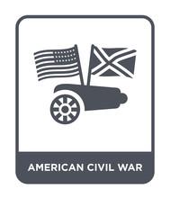 American Civil War Icon Vector