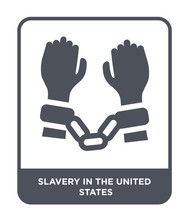 Slavery In The United States Icon Vector