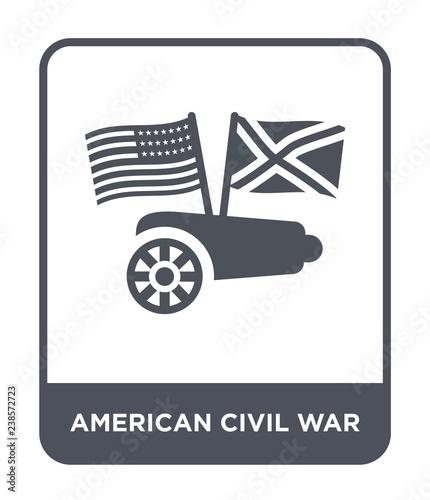 Obraz na plátně american civil war icon vector