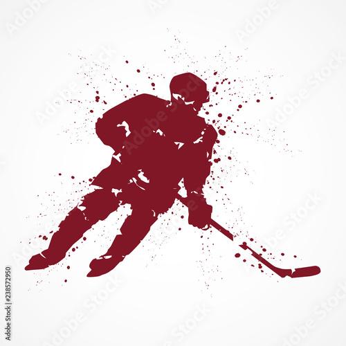 Hockey sur glace-tâches rouges © lil_22
