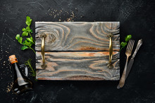 Wooden Kitchen Board And Veget...