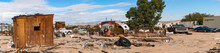 Desert Junkyard Panorama In California