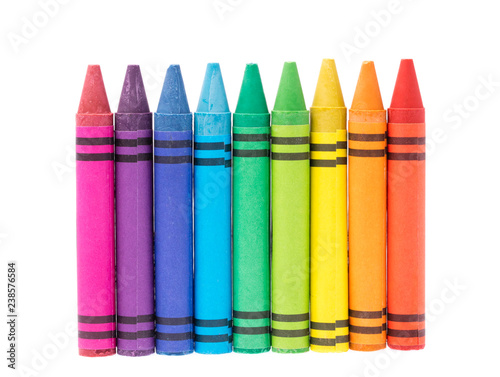 crayon isolated on white background Fototapete