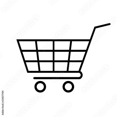 Fototapeta Shopping cart line icon