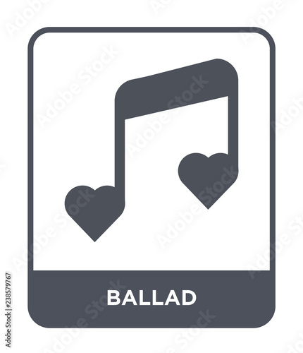 ballad icon vector Canvas Print
