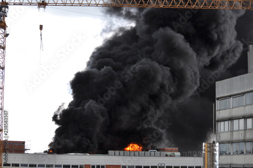 Türaufkleber Rauch Rauchgas bei Bränden