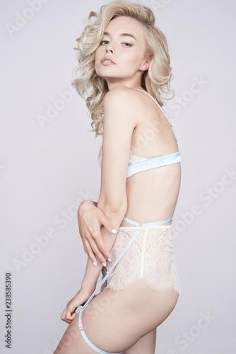 Fotobehang womenART Sensual woman in provocative lingerie