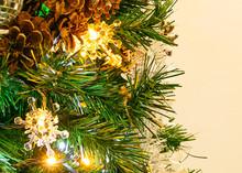 Albero Di Natale Luci Cartolina Sfondo Anno Nuovo