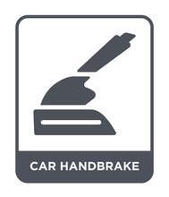 Car Handbrake Icon Vector
