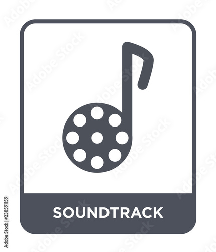 soundtrack icon vector Canvas Print