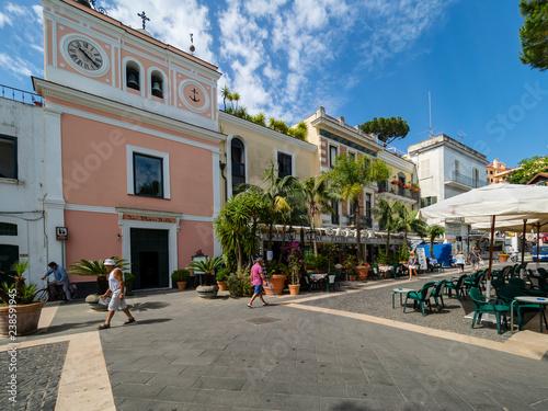 Casamicciola Terme, Corso Luigi Manzi, Ischia island, Naples, Gulf of Naples, Ca Poster Mural XXL
