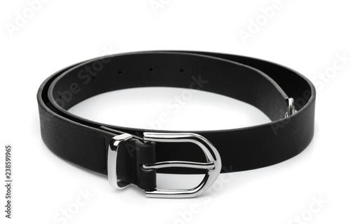 Fotomural Black leather belt