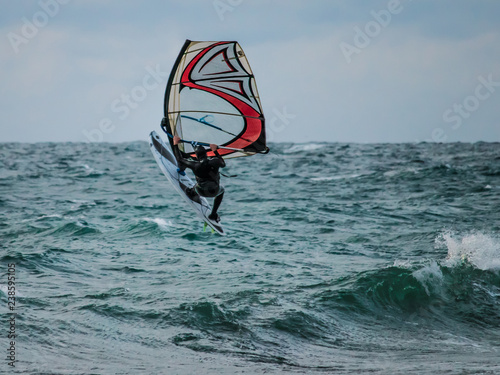 Water sports: Windsurfing jumps out of the water