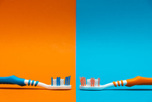 Worn / Used And New Toothbrush...