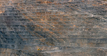 Surface Of Open Pit Of Mine
