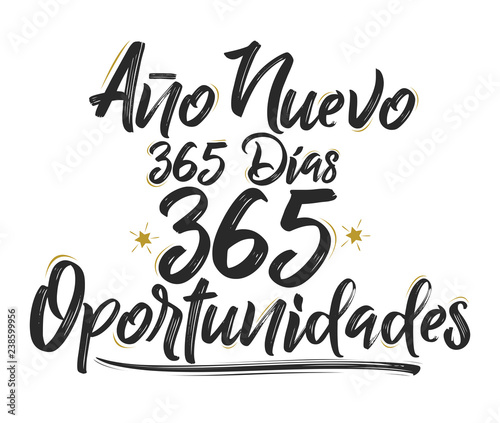 Valokuva Ano Nuevo 365 Dias, 365 Oportunidades, New Year 365 Days, 365 Opportunities span
