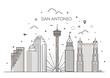 San Antonio city skyline vector background
