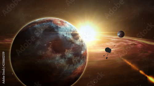 Fotomural Space probe exoplanet exploration