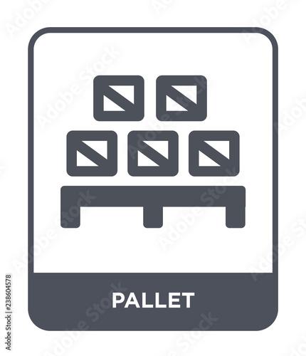 Cuadros en Lienzo pallet icon vector