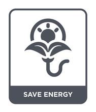Save Energy Icon Vector