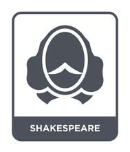 Shakespeare Icon Vector