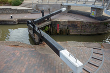 Canal Lock Gate In England