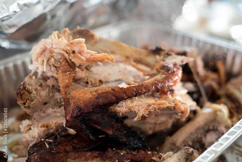 Fotografía Pulled Turkey in Aluminum Tray