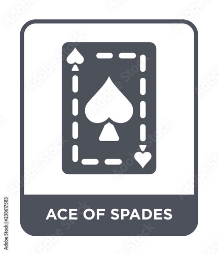ace of spades icon vector Wallpaper Mural