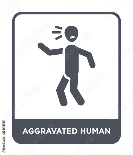 Photo aggravated human icon vector