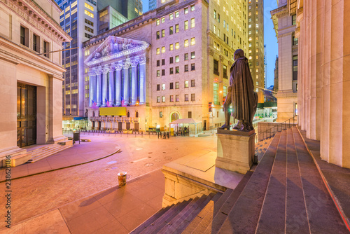 Photo Stands New York Financial District New York City