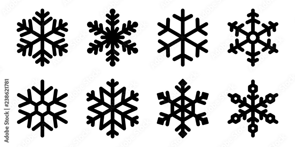 Fototapeta Snowflake vector Christmas icon logo snow Santa Claus Xmas cartoon character illustration symbol graphic