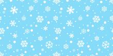 Snowflake Seamless Pattern Vec...