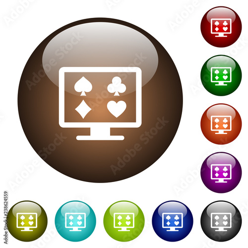 фотография  Online gambling color glass buttons
