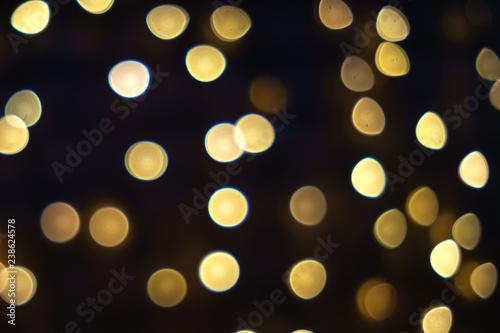 Fototapeta verschwommene Hintergrundbeleuchtung, Bokeh,  Weihnachten obraz na płótnie
